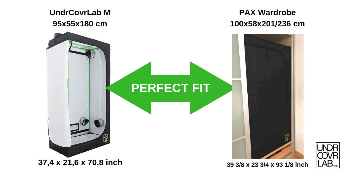 UndrCovrLab M - Grow tent - IKEA PAX