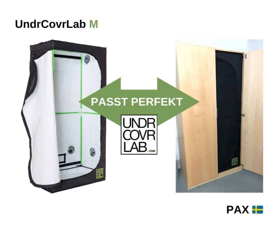 Ikea Pax growbox umbau mit UndrCovrLab M