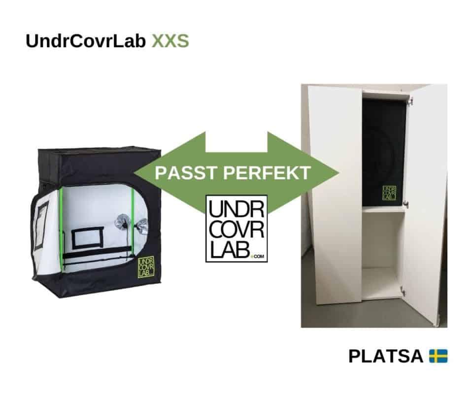 Mikro Stealth Growbox in Platsa mit UndrCovrLab XXS