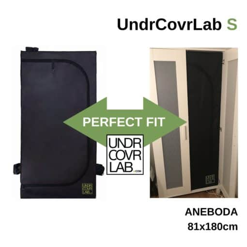 UndrCovrLab S - Stealth Grow Tent - Ikea Aneboda