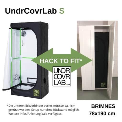 Stealth Grow mit UndrCovrLab S Growzelt im IKEA Brimnes