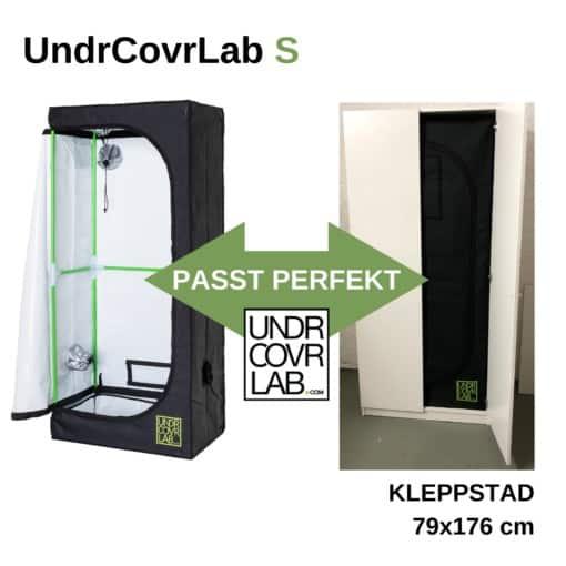 Stealth Grow mit UndrCovrLab S Growzelt im IKEA Kleppstad